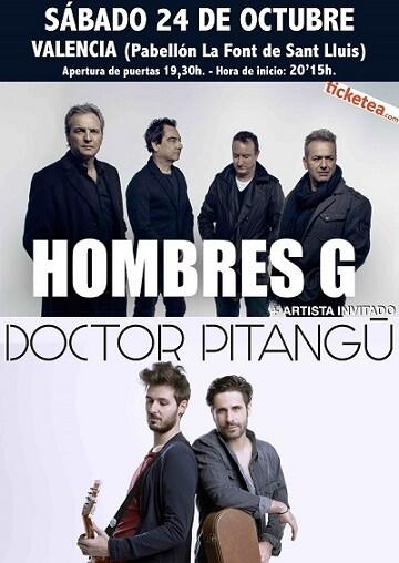 El grupo valenciano Doctor Pitangú, con su 'Happy Rock', será el encargado de abrir el concierto.