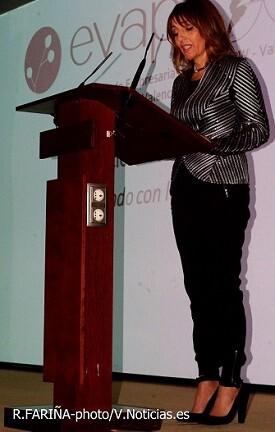 Empar Martínez Bonafé, presidenta de EVAP, en el acto inaugural de los premios.