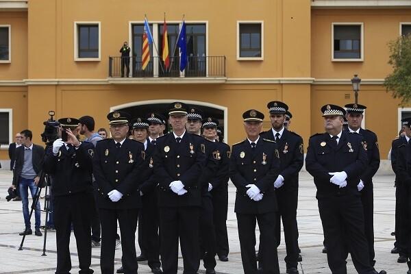 Entrega de medallas en el Día de la Policía Local.