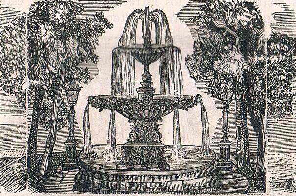 Font Plaça del Mercat. 1851. Xilografia.