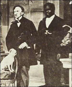 Fotografía tomada al doctor James Barry (izda), en Jamaica, probablemente en 1862.