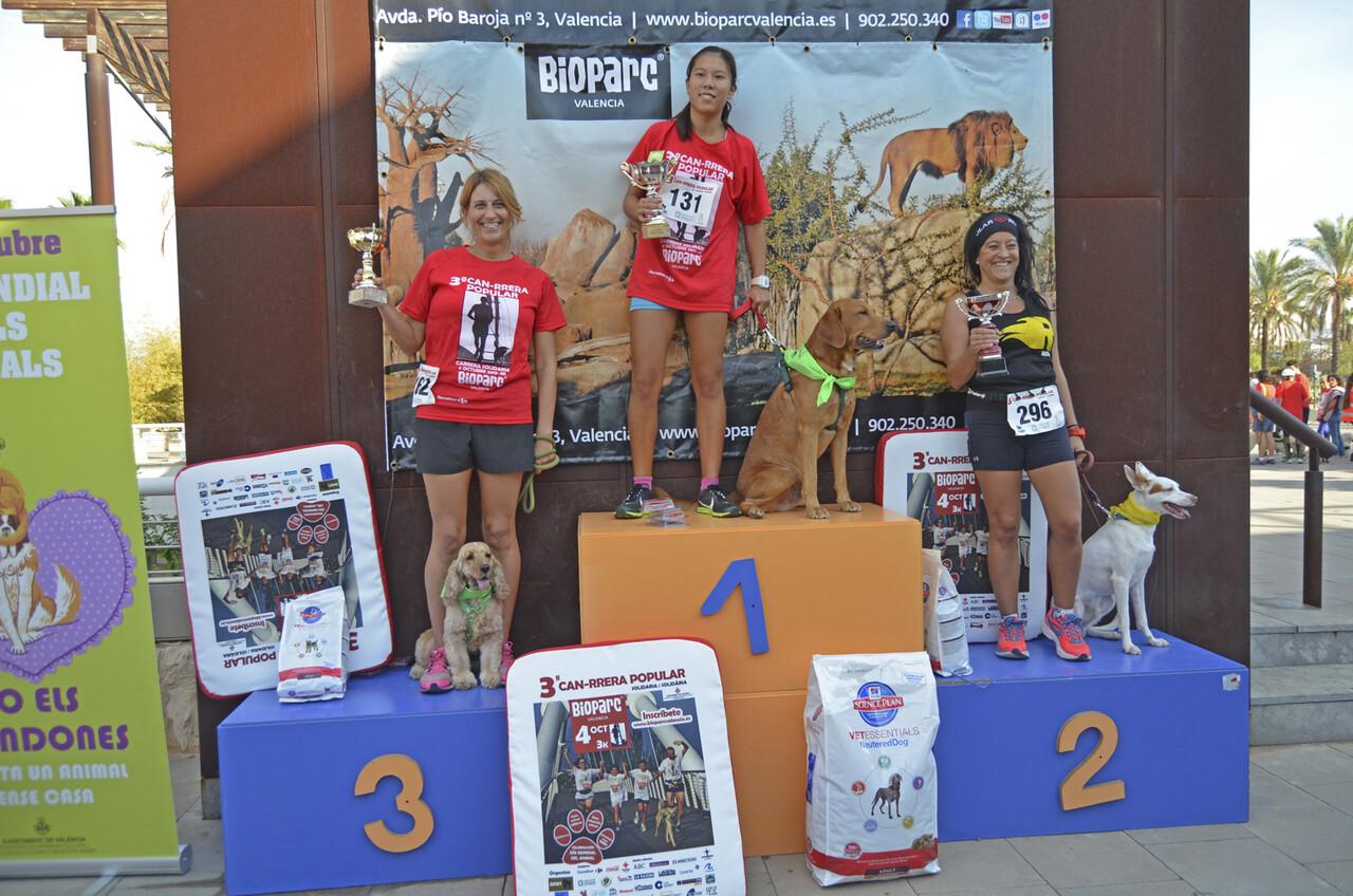 Ganadoras femeninas - 3 CAN-RRERA popular de Valencia
