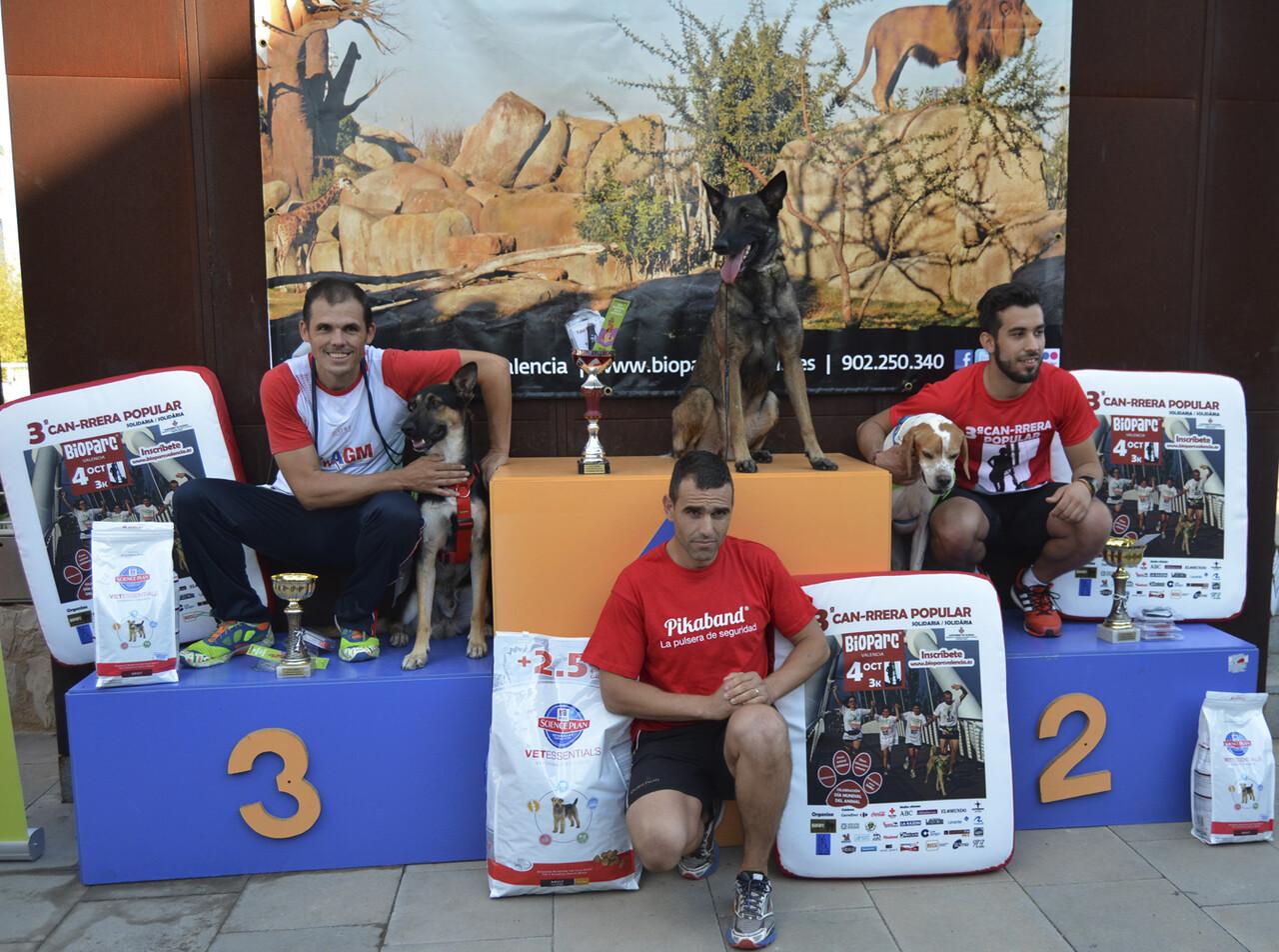 Ganadores masculinos - 3 CAN-RRERA popular de Valencia