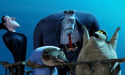 Dracula (Adam Sandler), Frank (Kevin James), Wayne (Steve Buscemi), Griffin the Invisible Man (David Spade) and Murray (Keegan-Michael Key) in Columbia Pictures and Sony Pictures Animations' HOTEL TRANSYLVANIA 2..