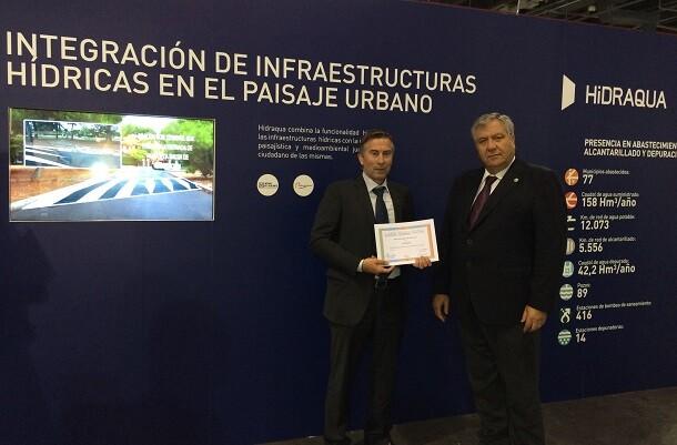 Hidraqua recibe el reconocimiento a la 'Integración de infraestructuras hídricas en el paisaje urbano' en Efiaqua.