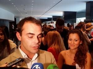 El diseñador Ion Fiz, el pasado jueves en la inauguración de Alicante Fashion Week