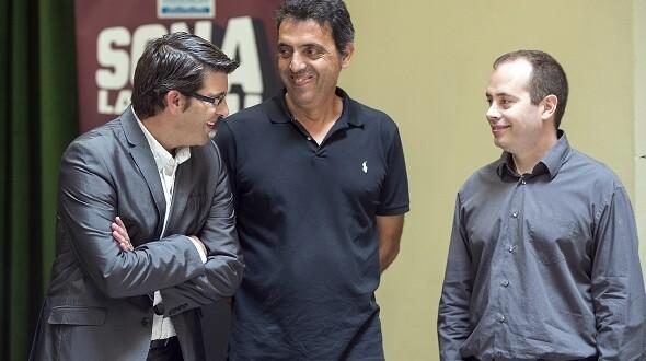 Jorge Rodríguez, Botifarra y Pau Chàfer.  (Foto-Abulaila).