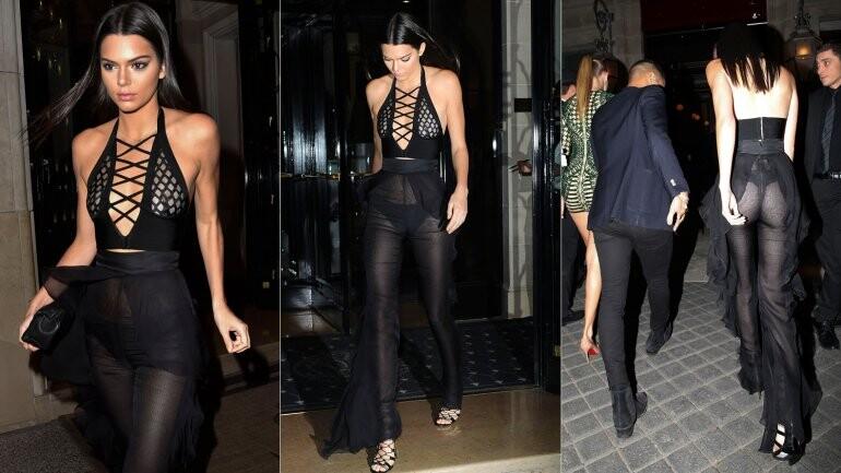 Kendall Jenner deslumbró con su atrevido look en París (1)