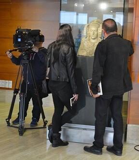 La Dama de Elche en su emplazamiento actual,el Museo Arqueológico Nacional de España (Madrid).