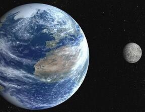 La Tierra y la Luna.