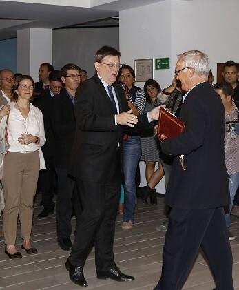 La exposición fue inaugurada por el president de la Generalitat, Ximo Puig. (Foto-Manuel Molines)