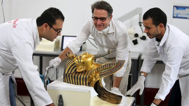 La máscara de Tutankamón, como nunca se vio (1)