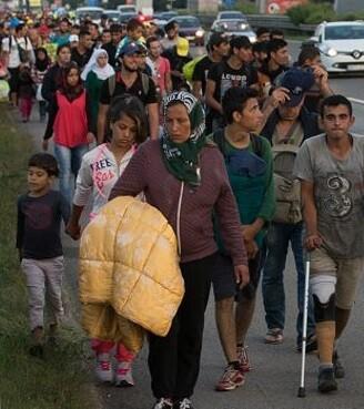 La mayoría de refugiados proceden de países en guerra como Siria, Irak y Afganistán.