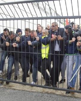 Los empleados de Air France estaba muy exaltados.