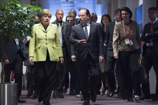 Merkel y Hollande piden volver a reunificar Europa.