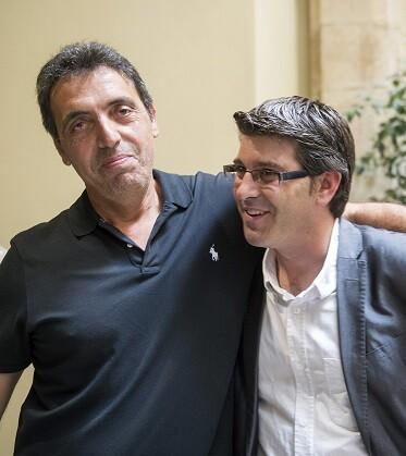 Pep Botifarra y el presidente Jorge Rodríguez (Foto-Abulaila).