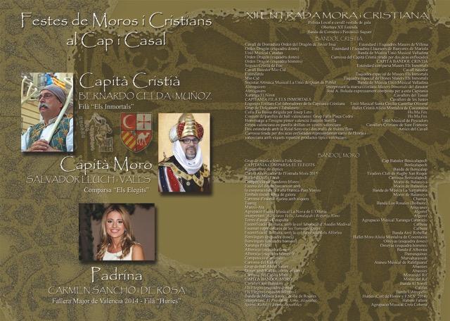 Programa de la XII Edición de la Entrada Mora y Cristiana Diptico XII ENTRADA I2015