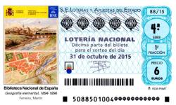 Sorteo de Lotería Nacional del sábado 31 de octubre de 2015