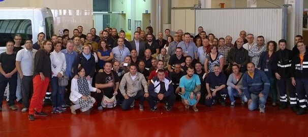 Trabajadores de  TCV SteveDoring Company.