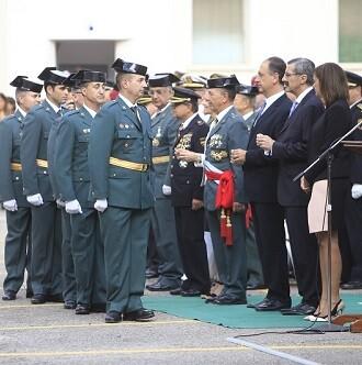 Tras la misa, la Guardia Civil realizó la entrega de condecoraciones.