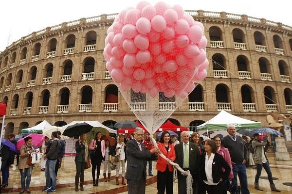 La consellera participa en el acto institucional contra el cáncer de mama, organizado por la Asociación Española Contra el Cáncer de Valencia (AECC),.  *** Local Caption *** Sanidad