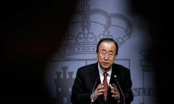 El secretario general de la ONU, Ban Ki-moon, durante su última visita a España.  RTVE