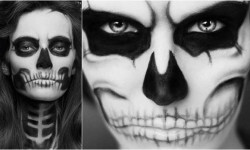 maquillarte para Halloween facil con creatividad, habilidad trucos (10)
