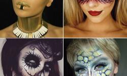 maquillarte para Halloween facil con creatividad, habilidad trucos (13)