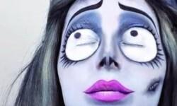 maquillarte para Halloween facil con creatividad, habilidad trucos (14)