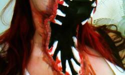 maquillarte para Halloween facil con creatividad, habilidad trucos (15)