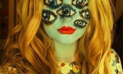 maquillarte para Halloween facil con creatividad, habilidad trucos (18)