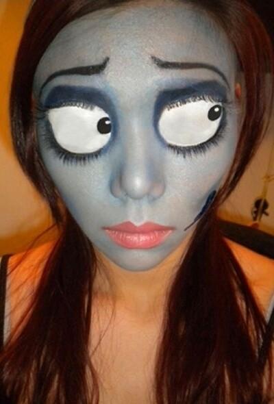 maquillarte para Halloween facil con creatividad, habilidad trucos (2)