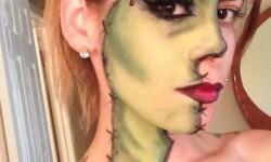 maquillarte para Halloween facil con creatividad, habilidad trucos (25)