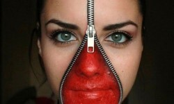 maquillarte para Halloween facil con creatividad, habilidad trucos (27)