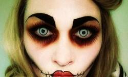maquillarte para Halloween facil con creatividad, habilidad trucos (28)