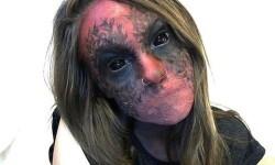 maquillarte para Halloween facil con creatividad, habilidad trucos (29)