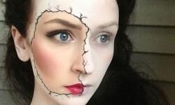 maquillarte para Halloween facil con creatividad, habilidad trucos (30)