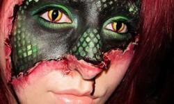 maquillarte para Halloween facil con creatividad, habilidad trucos (31)