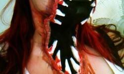 maquillarte para Halloween facil con creatividad, habilidad trucos (32)