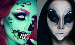 maquillarte para Halloween facil con creatividad, habilidad trucos (38)