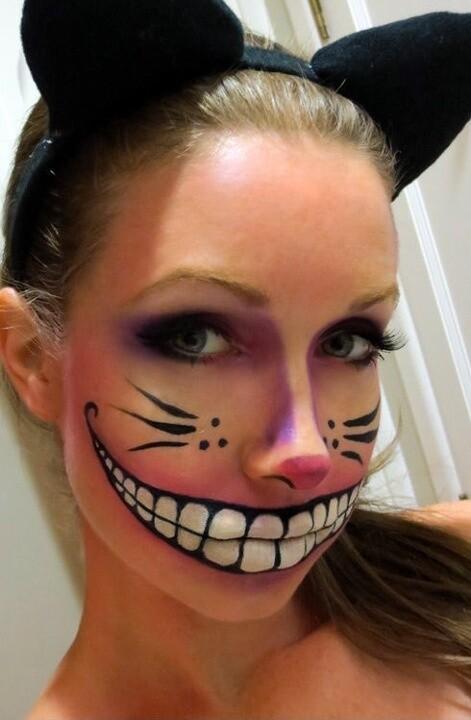maquillarte para Halloween facil con creatividad, habilidad trucos (4)