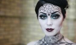 maquillarte para Halloween facil con creatividad, habilidad trucos (40)