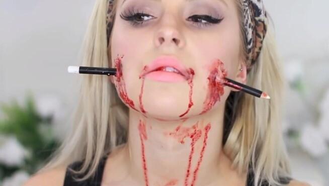 maquillarte para Halloween facil con creatividad, habilidad trucos (42)