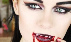 maquillarte para Halloween facil con creatividad, habilidad trucos (7)