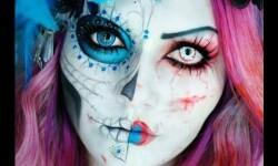 maquillarte para Halloween facil con creatividad, habilidad trucos (9)