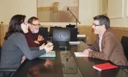 1.- Alcaldesa de Sinarcas con el presidente