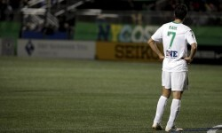 New York Cosmos player Raul stands on the field during his team's match against the Ottawa Fury for the NASL Championship in Hempstead, New York, November 15, 2015. REUTERS/Brendan McDermid