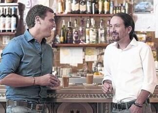 Albert Rivera y Pablo Iglesias en una encuentro en La Sexta.
