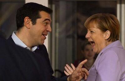 Alexis Tsipras y Angela Merkel.