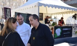 Amparo Marco con los chefs